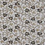 Fabulous Fabrics Tüllspitze Lurex Ranken – schwarz/Gold — Meterware ab 0,5m — zum Nähen von Karnevalsartikeln, Abend- und Partymode und Accessoires