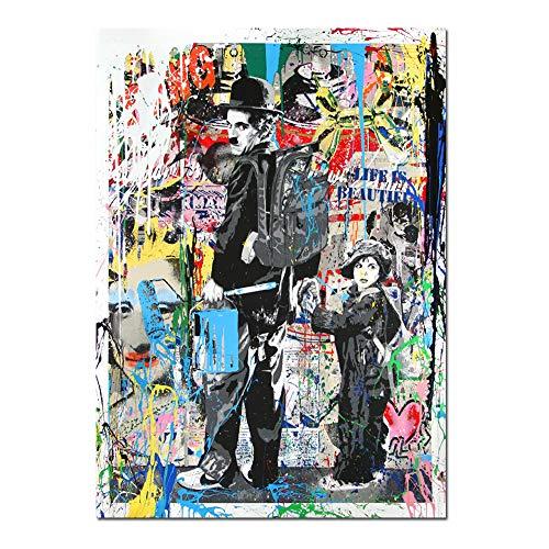 3582883d770 Orlco Art Graffiti Art Lienzo Banksy Graffiti Pintura Einstein Art Prints  Street Urben Pintura Arte Colorido