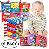 Libri di Stoffa Baby, 6 Set Il Mio Primo Abbigliamento Morbido Non Tossico Libro Giocattoli Educativi Regali per Il Primo Anno Neonati di 1 Anno Neonati Toddlers Touch Feel Activity