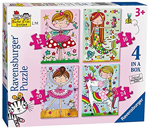 Ravensburger Rachel Ellen Fairytale Favourites, 4in einer Box (12, 16, 20, 24-) Puzzle