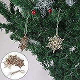 LOBJA LbojailiAi Hängende Schneeflocke aus Holz Hohl Geschnitzte Weihnachtsbaum Ornament Home Decor 10Pcs