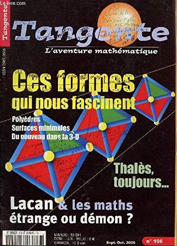 MATHS ET ARTS PLASTIQUES - GEOMETRIE DE LA CREATION / HS N°23 / BIBLIOTHEQUE TANGENTE, L'AVENTURE MATHEMATIQUE. par COLLECTIF