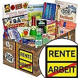 Rente | Spezialtiäten Geschenkset | Geschenk Korb | Rente | inkl. Markenbuch | DDR Box | Rente Ruhestand | mit Rotkäppchen Piccolo Sekt, Viba und mehr