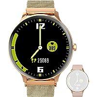 Blackview X2 Damen Smartwatch, Smart Armbanduhr Fitness Tracker Smart Watch Rund 5ATM Wasserdicht Fitnessuhr mit Pulsuhr…