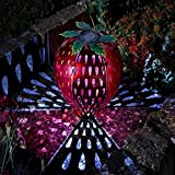 Funky Strawberry Solar Lantern Garden Light Ideal Garden and Patio Gift Idea