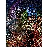 Riou DIY 5D Diamant Painting Voll,Stickerei Malerei Diamantr Crystal Strass Stickerei Bilder Kunst Handwerk für Home Wand Decor Gemälde Kreuzstich Stichsäge Bild Muster (Mehrfarbig, 30 * 40cm)
