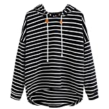 18368a8c422a Milktea Mode Frauen Plus Size Sweatshirt Damen Langarm Bluse Pullover Tops  Streifen Casual Sweatshirt Langarm Crop Jumper Pullover Tops