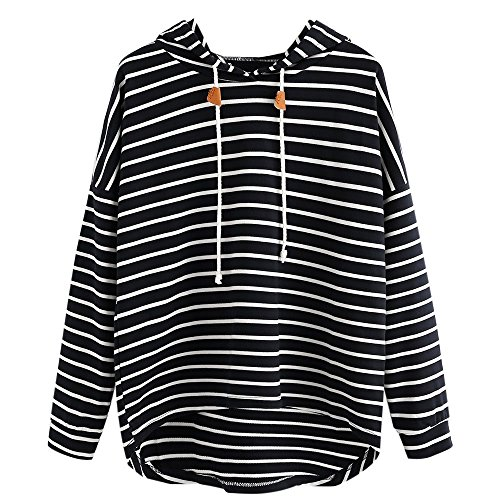 Milktea Mode Frauen Plus Size Sweatshirt Damen Langarm Bluse Pullover Tops Streifen Casual Sweatshirt Langarm Crop Jumper Pullover Tops