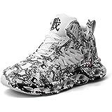 Scarpe da Basket da Uomo Scarpe da Ginnastica Traspiranti con Piattaforma Leggera Sneaker Casual da Corsa Antiscivolo con Amm