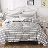 Best FADFAY Beddings - FADFAY 3 Pieces Duvet Cover Set Reversible Striped Review