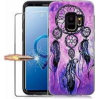 Funda Samsung Galaxy S9 Carcasa MISSDU Frontal y Trasera Ultra-Delgada Película Protectora, 368 °Protección Completa PC + TPU Case Cover Carcasa, Colgante de Campana de Viento