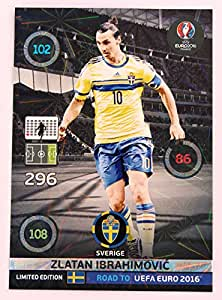 panini adrenalyn road to uefa euro 2016 ibrahimovic su de limited edition jeux et jouets. Black Bedroom Furniture Sets. Home Design Ideas