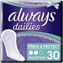 Always - Normal -30serviettes hygiéniques avec inhibiteur d'odeurs ActiPearls - Lot de 5 (150 serviettes)