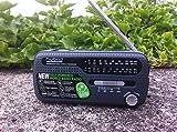 Muse MH-07DS tragbares Kurbel-Radio, Weltempfänger mit Taschenlampe und Solar-Ladefunktion (Dynamo, Handy-Lader, Solar, USB, Mini-USB) - 2
