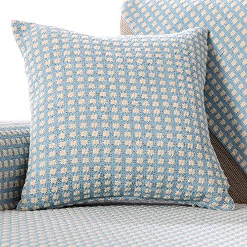 Pur coton de couleur Lin Canapé Taie d'oreiller, dos de couverture de lit, chaise de bureau Coussin, oreiller de voiture avec Core Tour de taille, X, 50x50cm(20x20inch)VersionB