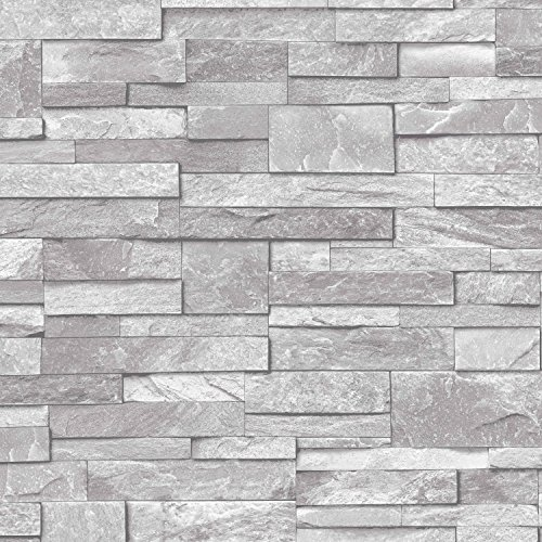 3d-slate-stone-brick-effect-wallpaper-washable-vinyl-natural-grey