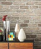 NEWROOM Steintapete beige Vliestapete braun Jung,Modern,Stein Muster/Motiv schöne moderne und edle Design 3D Optik , inklusive Tapezier Ratgeber