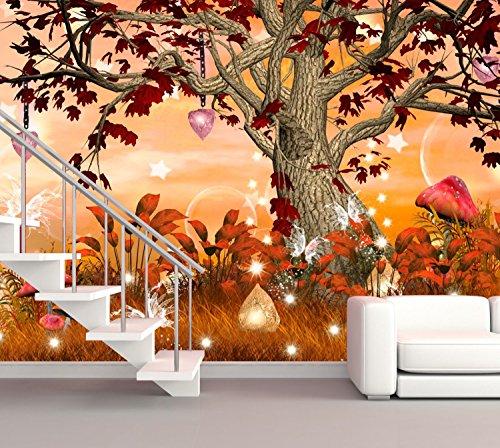 Preisvergleich Produktbild XXL Poster Fototapete Wandtapete Vlies Fantasy Zauberbaum Material Vlies ohne Kleber,  Größe 300 x 220 cm 3-tlg