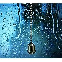 Tirador de cuerda/sftlite cortina estor cable extensión Acorn–Tirador de la luz para baño, cadena con bola cadena 85cm cuerda luz/estor de baño mango latón peso para cuerda Tire cromo, cromado, Big Acorn, twist-cap
