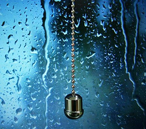 Kettenzug aus Messing mit Griffeichel von SFTlite, Länge der Kugelkette: 85 cm, chrome, Big Acorn, twist-cap
