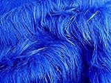 Langer Stapel Spa�iger falscher Pelz Stoff - Royal Blau - 5 m - 500cmx150cm Bild