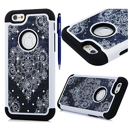 fur-iphone-7-yokata-bling-diamant-3-in-1-case-sehr-dunn-mit-soft-cover-blumen-motiv-hulle-weich-tpu-
