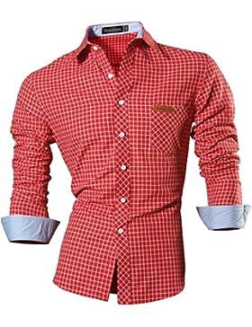 [Patrocinado]jeansian Hombre Camisa Moda Casual Button Down Slim Fit Long Sleeves Dress Shirt Tops Z029