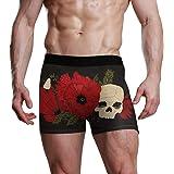 NaiiaN Bulge Pouch Mutande Mens Slip da Uomo per Uomo Ragazzo Intimo Confortevole Sirena Poppy Skull Rose Dark Ultra Soft Pre