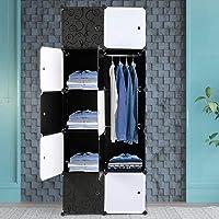Alightup Armoire Penderie Modulable Portable Grande Capacité Storage avec Portes Étagère de Etagères Empilables…