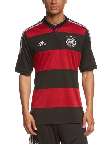 adidas Herren Trainingsshirt DFB Trikot Away WM, Schwarz / Rot, S, G74520