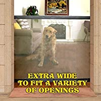 Ginkago Protector de Puerta de Perro para Mascota, Portable, Plegable, Seguro e instala en Cualquier Lugar, Mascota, Perro, Puerta, Perro, Vallas de bebé, Vallas de Seguridad
