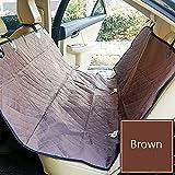 Auto Sicherheit Matte Haustier Autotransporter Reisesitz Hund Welpen Vorne Auto Seat Protector Wasserdichte Haustier Auto Vordersitzbezug (Farbe : Braun)