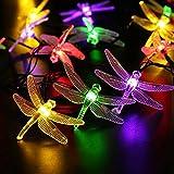 JFJL Outdoor Solar Garten Stake Lights - Solar Powered Lights mit 20 Libellen, Multi-Farbwechsel LED Solar Stake Lights Für Garten, Terrasse, Hinterhof