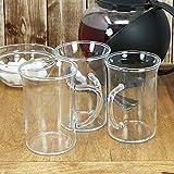COM-FOUR® 6x Tee- und Kaffeeglas mit Henkel, 240 ml (06 Stück - Design1) Test