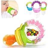 Baby Shopiieee Fresh Food Nibbler Silicone Baby Infant Fruit Feeder Dummy Pacifier Newborn Nipple (Multicolour)