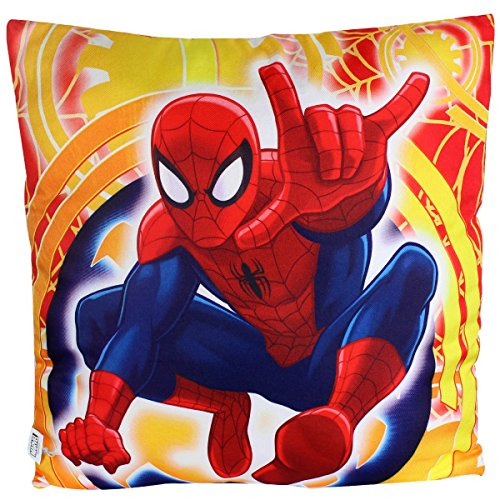 Cuscino Spiderman ragazzo 40x 40cm, Yellow, 40 x 40 cm