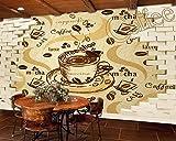 Kuamai 3D Retro Vintage Cafe Restaurant Hintergrund Wandmalerei Custom Hotel Wallpaper Küche Billig Wandbild Bester Lieferant-120 X 100 Cm