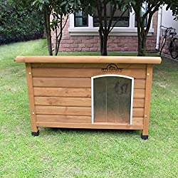 Größe Medium, isolierte Norfolk Hundehütte aus Holz mit entfernbarem Boden zur einfachen Reinigung A