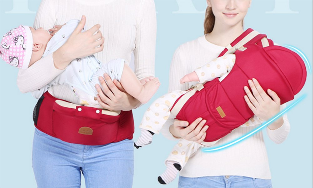 Multifunctional Baby Waist Stool 6 in 1 Baby Carrier Detachable Hip Joint Wide Shoulder Strap Easy and Effort babao 【Perfect for All Seasons】100% organic cotton and breathable mesh material make it soft and comfortable for you and baby skin. Adjustable and demountable temperature-regulation anti-wind hood allows you to keep cooling or warm as you need 【many Carrying Positions and Many Usages】many or out ward facing with or without the hip seat and as a hip seat for infants with the mom or dad detached.Besides, more positions can be allowed as pictures show 【Multifunctional & Adjustable Baby Carrier】Ergonomic positioning of baby seat allows baby's thighs to be supported to the knee joint. The forces on the hip joint are minimal because the legs are spread, supported, and the hip is in a more stable position. Also provides carrying comfortable for adults with wide adjustable lumbar support belt with Velcro and buckle for added safety and strength, and wide adjustable shoulder straps to accommodate both forward and rear positions 3
