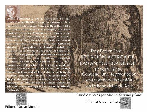 Relación acerca de las antigüedades de los indios por Ramon  Pane