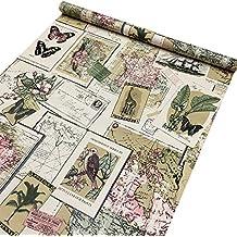 lovefaye papel adhesivo decorativo con motivos vintage cm x m