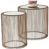 KARE 80199 tavolino Wire Copper (2/set)