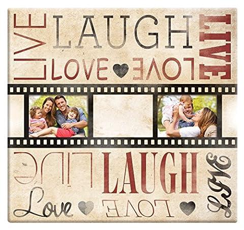 MBI Live Laugh Love Film Strip Post Bound Scrapbook 12 x 12-Inch