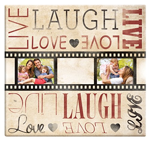 MBI Live Laugh Love Folie Streifen Post Bound Scrapbook 12 x 12 Zoll