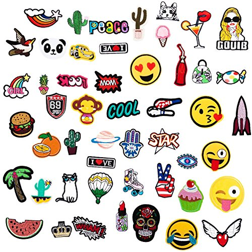 12pcs Cartoon Clothes Patches Iron On Embroideried Sew On Diy Patches Applique Patches For Pants Hat Backpack To Adopt Advanced Technology Digital Gear Bags Consumer Electronics