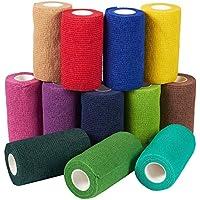 Selbstklebende Bandage – 12 Stück selbsthaftende Bandage Medizinische Tierarzt-Tape für Erste Hilfe, Sport, Handgelenk... preisvergleich bei billige-tabletten.eu