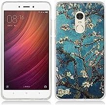 Funda Xiaomi Redmi Note 4 - Fubaoda - 3D Realzar, clásico de la flor Patrón, Gel de Silicona TPU, Fina, Flexible, Resistente a los arañazos en su parte trasera, Amortigua los golpes, funda protectora anti-golpes para Xiaomi Redmi Note 4