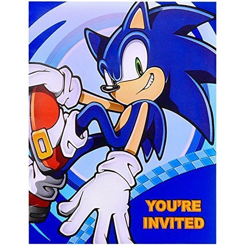 Sonic the Hedgehog Party Supplies - Invitations (8) by BirthdayExpress (Party Sonic Birthday Supplies)
