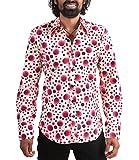 Chenaski 70er Jahre Retro Partyhemd Hippie Style Rot XL