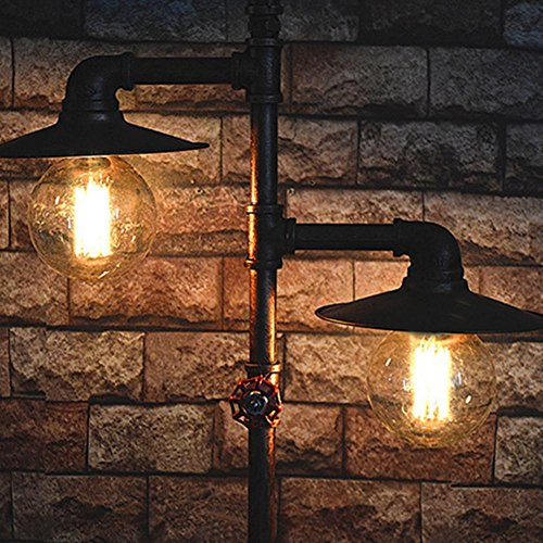 Cheap ZTYR Vintage iron living room study pipe floor lamp Special